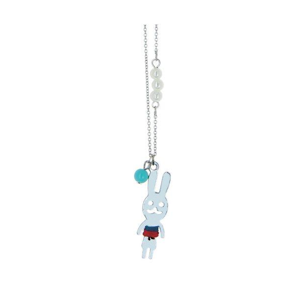 LUZAKA Detský Náhrdelník MINI LAPIN Modrý 372213