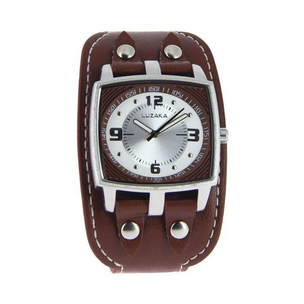 LUZAKA Pánske hodinky ARTHUR RETRO hnedé 008758