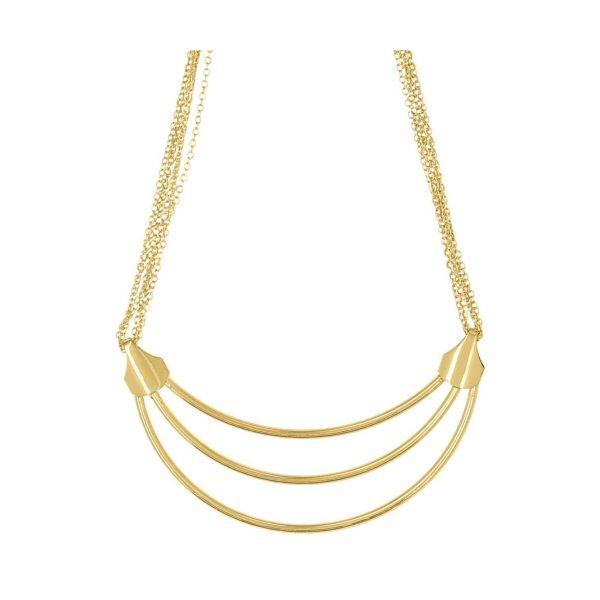 LUZAKA Náhrdelník TRIO zlatý 036539